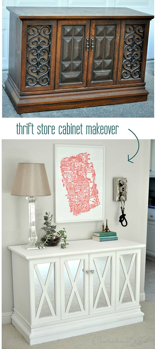 10 Inspiring Thrift Store Makeovers - cabinet-thrift-store-makeover