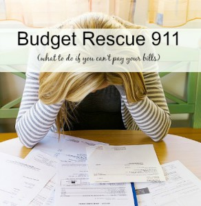 Can't Pay Your Bills: Budget Rescue 911
