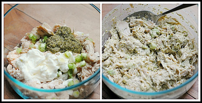 How to make pesto chicken salad