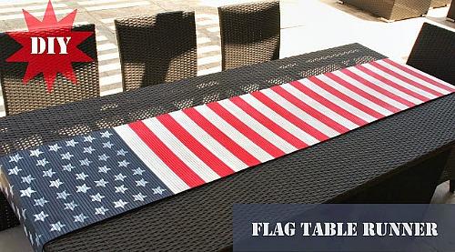 DIY Flag Table Runner