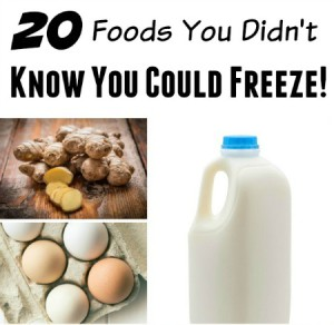 20 Foods you can freeze