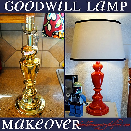10 Inspiring Thrift Store Makeovers - make over a Goodwill Lamp!