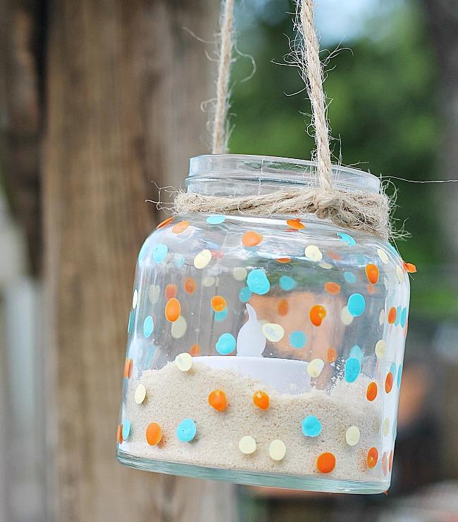 DIY Hanging Jar Lantern