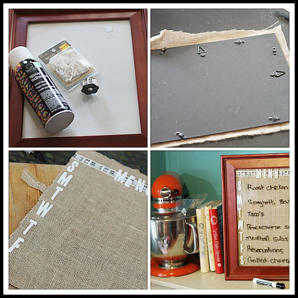 How to make a wipe off menu board from an old photo frame.