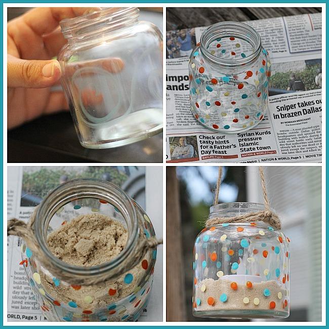 How to make a hanging jar lantern