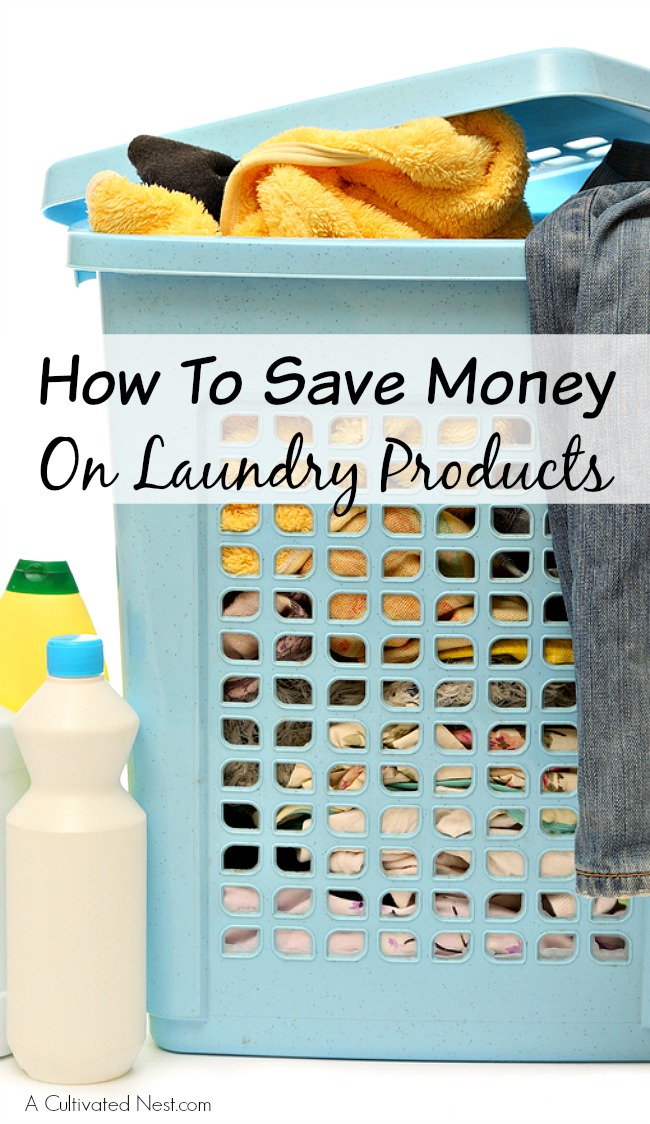 How To Save Money On Laundry Products: