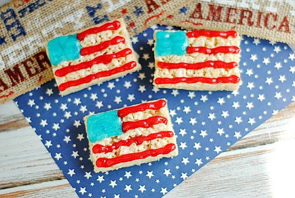 Patriotic Krispy Treats