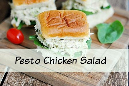 Pesto Chicken Salad | Quick, Easy & Delicious!