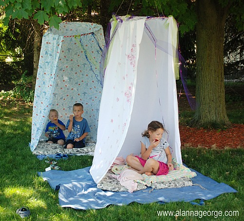 Summer Activities for Kids: make a fort for them to hangout in
