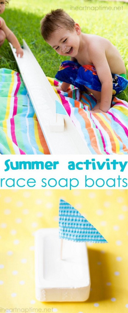 Summer Activity - soap boat races