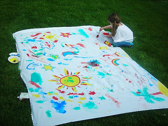 Summer  Outside Art Activity for kids