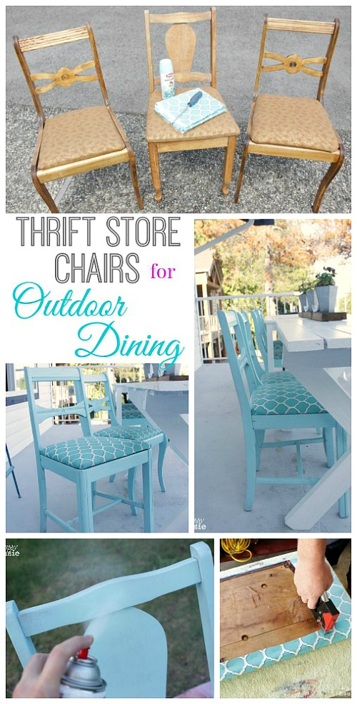 10 Inspiring Thrift Store Makeovers - thrift-store-outdoor-chair-makeover