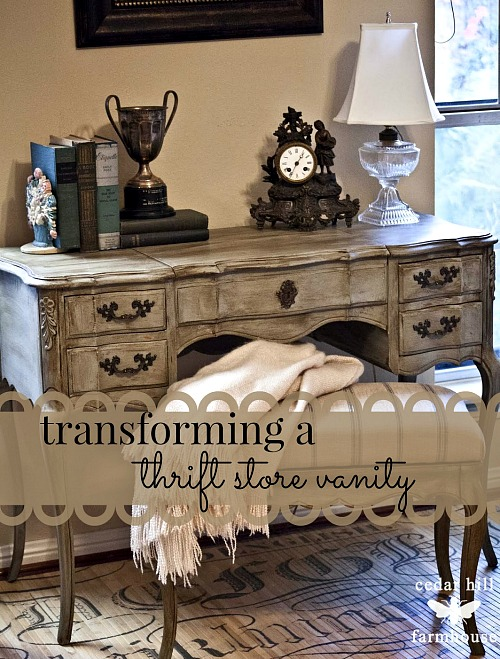 10 Inspiring Thrift Store Makeovers - beautiful thrift store vanity makeover