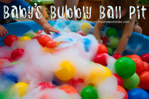Bubble Ball Pit- Here are 10 inexpensive summer outdoor activities that will keep the kids or grandkids occupied all summer long! Definitely give these a try this summer! | #kidsActivities #frugalLiving #summerActivities #summerKidsActivities #ACultivatedNest