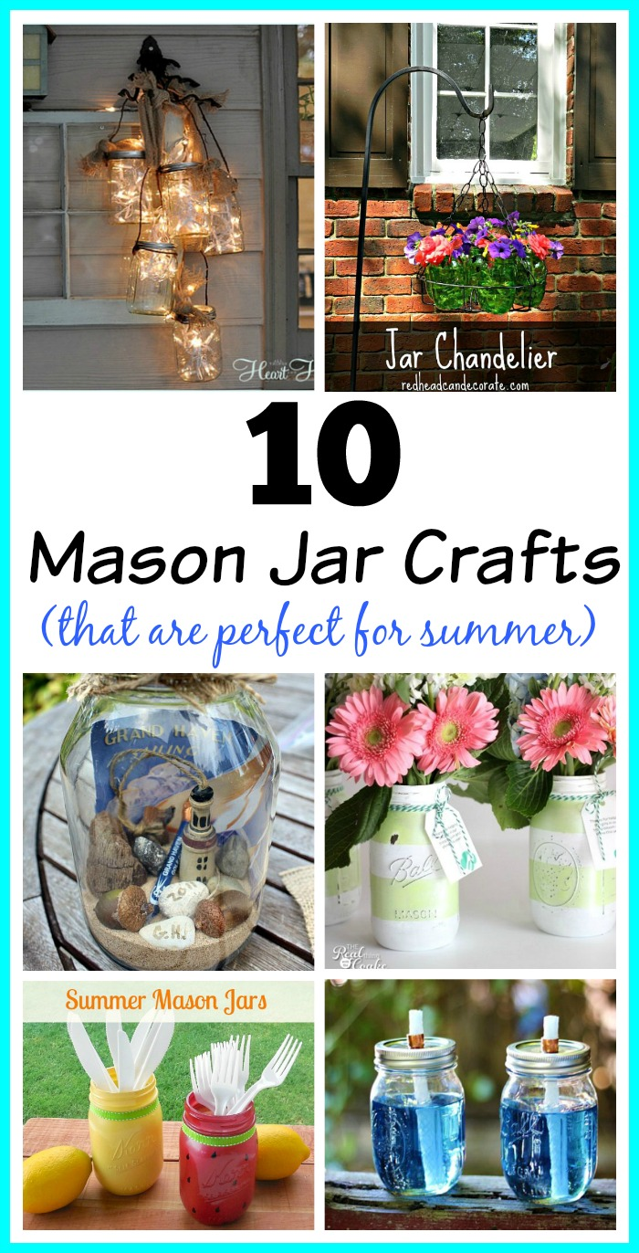 10 Mason Jar Crafts for summer
