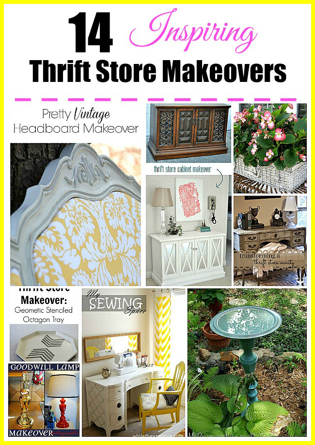 "14 Inspiring Thrift Store Makeover Ideas- The saying ""One man's trash is another man's treasure"" couldn't be more true, especially when it comes to thrift store finds! Get inspired with these grogeous thrift store makeover ideas! 