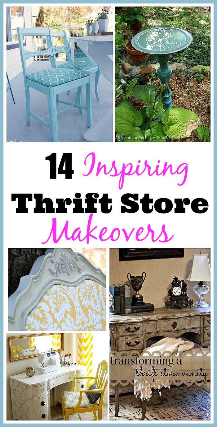 14 Inspiring Thrift Store Makeover Ideas- These DIY thrift store makeovers will give you plenty to work on and are truly gorgeous! Add them to your home or office's decor! | #thriftStoreMakeover #DIY #furnitureDIY #decor #ACultivatedNest
