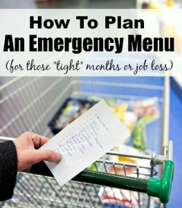 How To Plan An Emergency Menu For Your Family