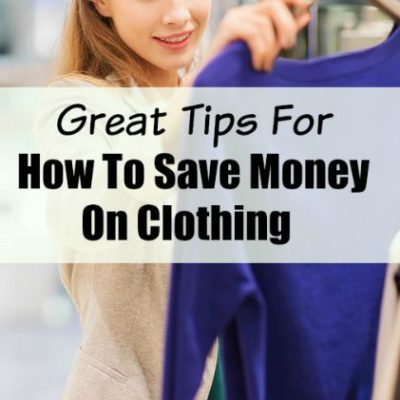 Tips On How To Save Money On Clothing