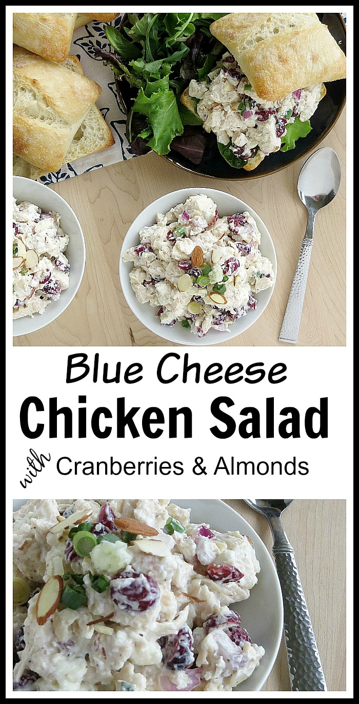 Blue Cheese Chicken Salad with Cranberries and Almonds