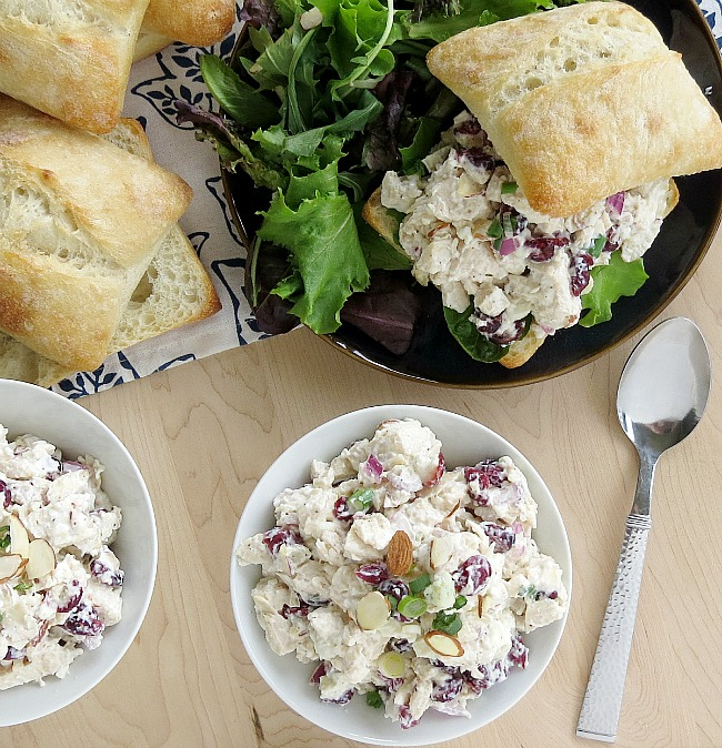 Blue Cheese Chicken Salad with Dried Cranberries
