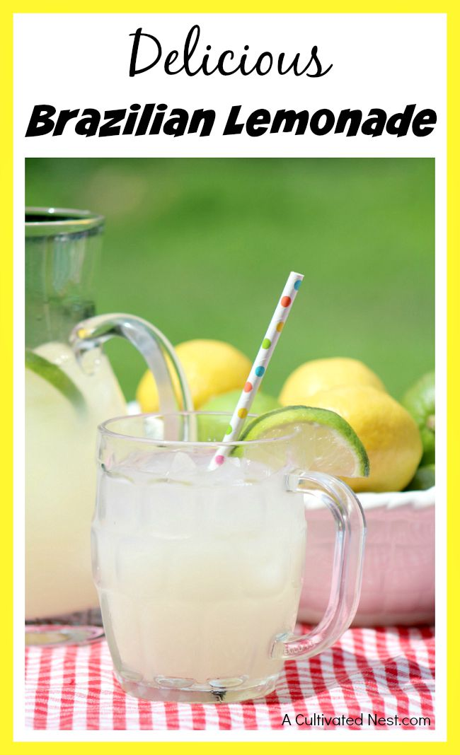 Delicious Brazilian lemonade (AKA Swiss lemonade)