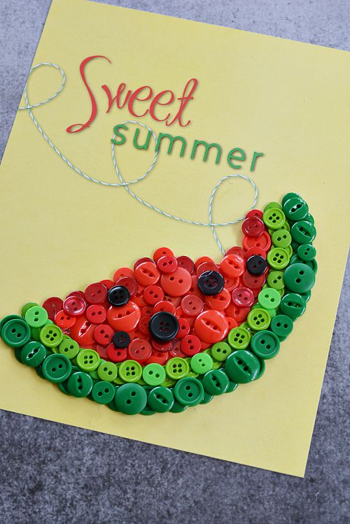 DIY Sweet Summer Watermelon Button Craft - Step 3