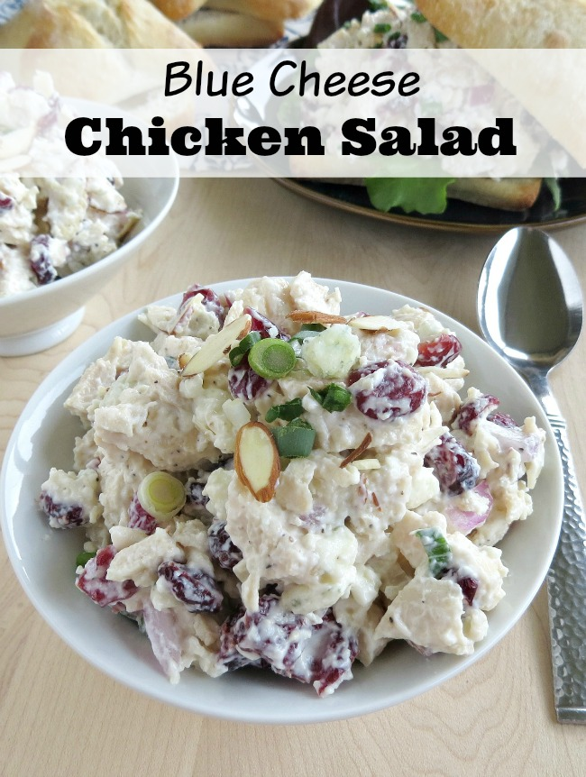 Easy blue cheese chicken salad