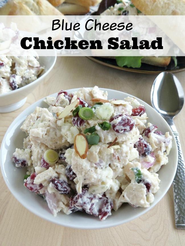 Easy blue cheese chicken salad