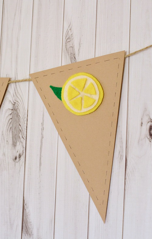 Easy fruit banner summer craft- lemon