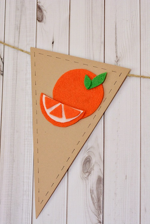 Easy fruit banner summer craft- orange