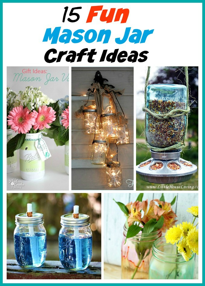 15 Fun Summer Mason Jar DIY Ideas- If you want some pretty summer decor on a budget, check out these 15 Mason jar DIY ideas! All of these Mason jar crafts are so easy, and so pretty! | #MasonJar #diyProject #summerDIY #craft #ACultivatedNest
