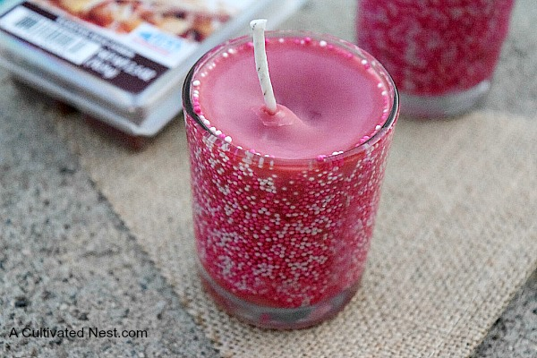 Diy apple scented candles with sprinkles for Scents for homemade candles