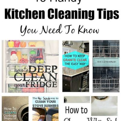 15 Kitchen Cleaning Tips