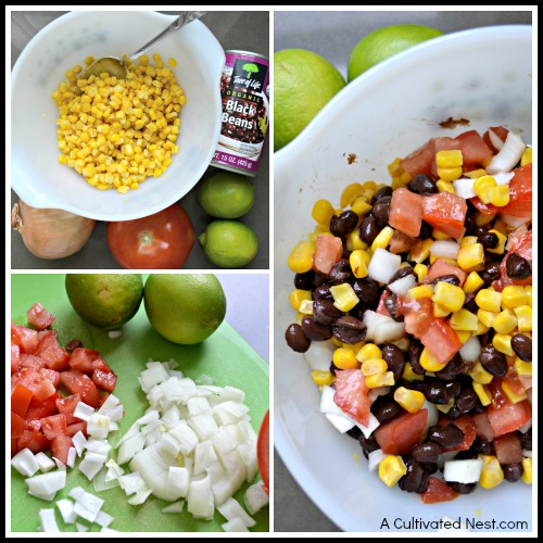 Quick and easy black bean salsa