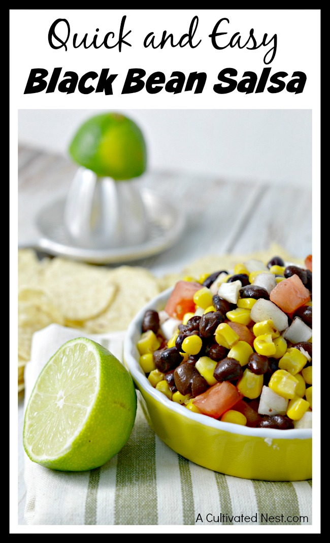 If you're looking for a quick topping for a dish, or want an easy salsa recipe, then you should check out this recipe for quick and easy black bean salsa!