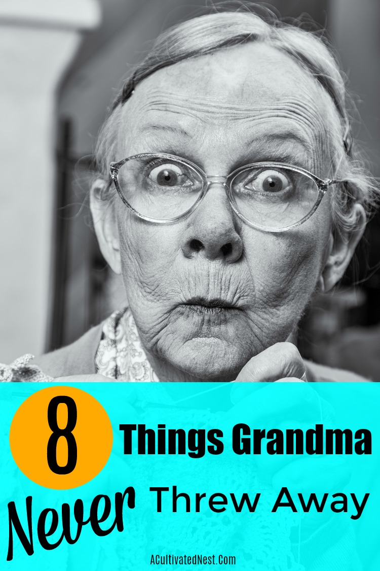 8 Things Grandma Reused To Save Money - Many people are surprised that you can literally save hundreds per year just by incorporating simple changes into your daily routine. I have a great list of items that frugal people reuse to save money and I hope some of these will help save you more money and give you a little more cushion in your budget! #moneysavingtip #frugal #frugalliving #repurpose