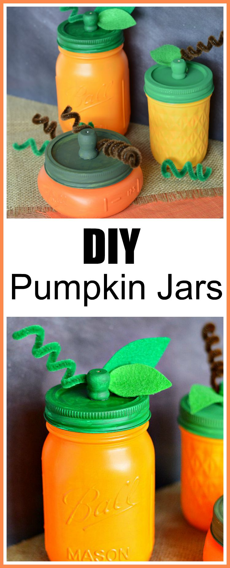 DIY Mason Jar Pumpkins