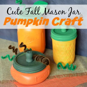 Cute Fall Mason Jar Pumpkin Craft