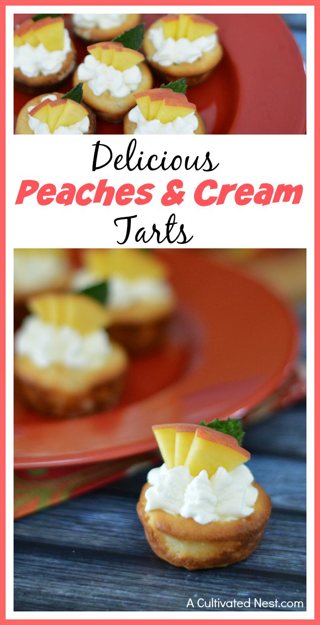 Delicious peaches and cream tarts