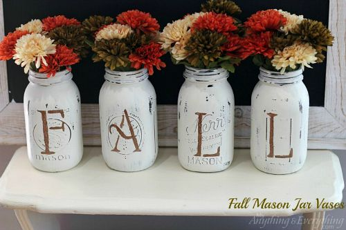 Fall Mason jar crafts- Fall