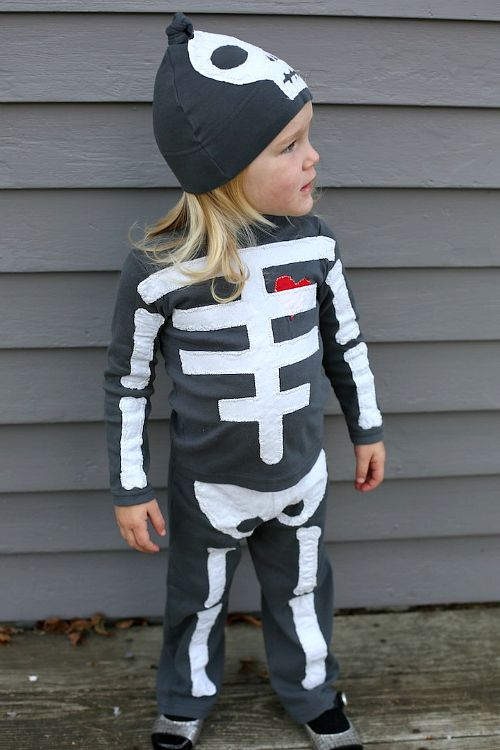 10 frugal diy halloween costumes skeleton - Skeleton Halloween Costume For Kids