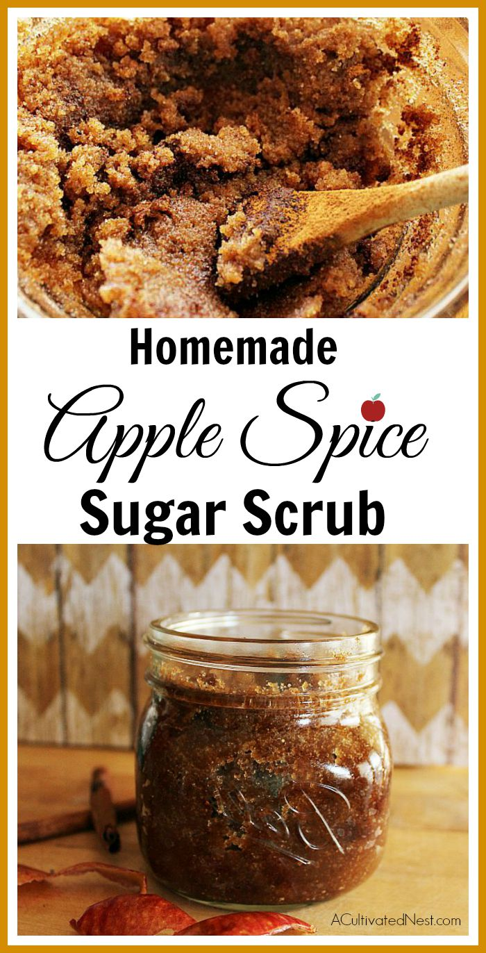 Homemade Apple Spice Body Scrub