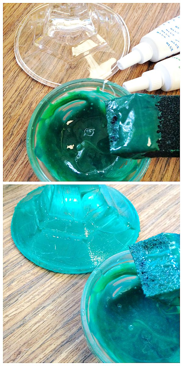How to make sea glass with glue and food coloring