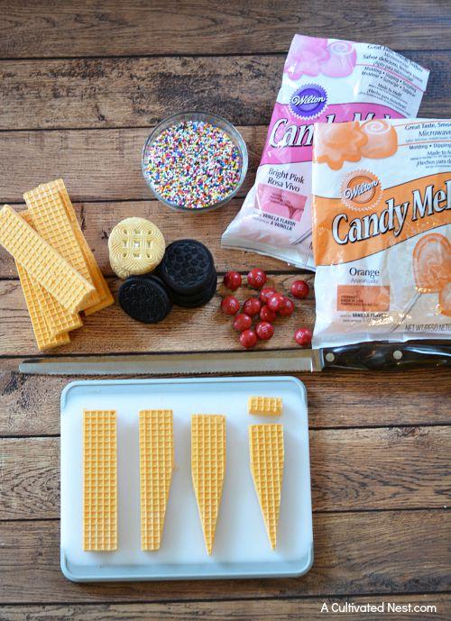 Ice cream cone cookies ingredients
