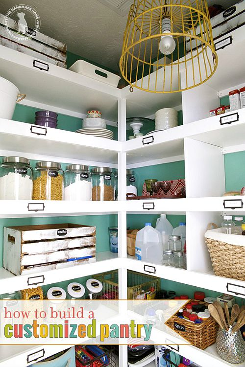 Pretty pantry organization ideas- labeled pantry