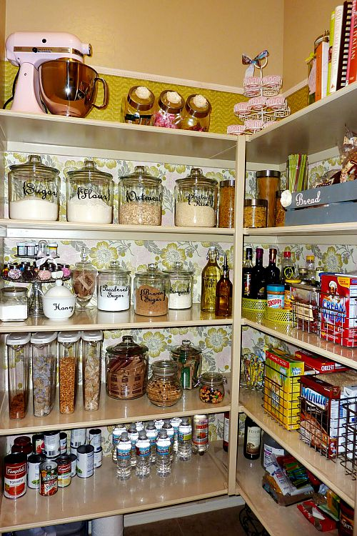 Pretty pantry organization ideas- Mod Podge