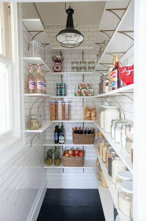 Pretty pantry organization ideas- white pantry