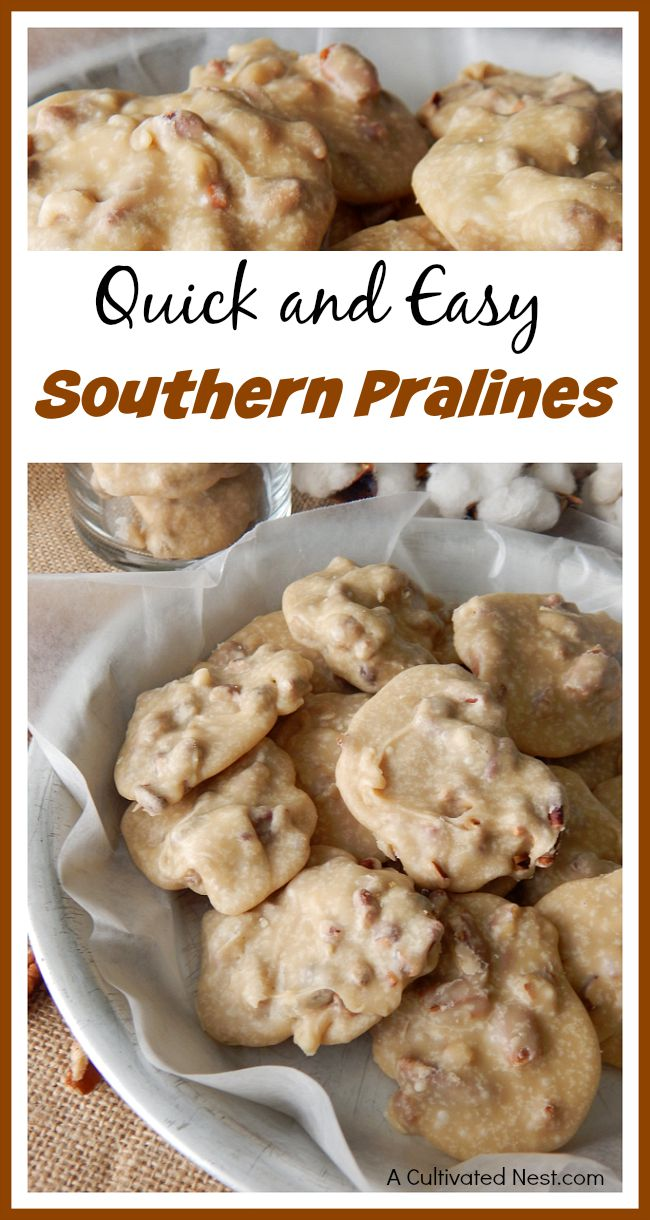 Quick and easy Southern pralines