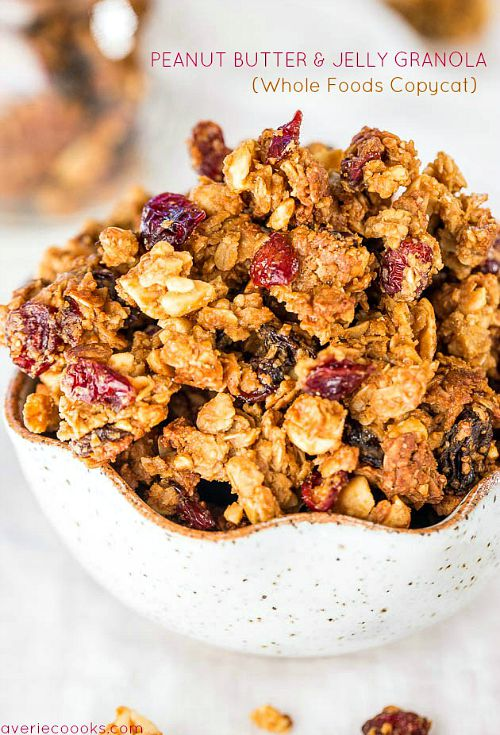 10 delicious twists on peanut butter and jelly- granola